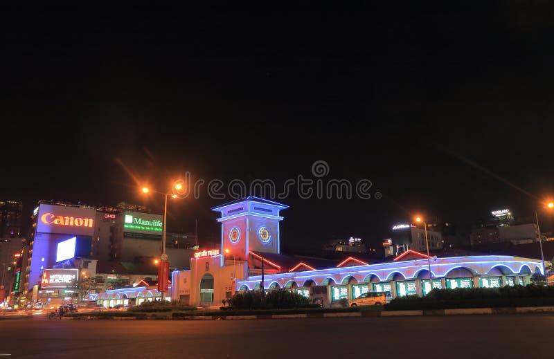 Mercato Ho Chi Minh City Vietnam di notte di Ben Thanh fotografia stock libera da diritti