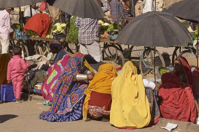 Mercato indiano in Nagaur, Ragiastan, India immagine stock libera da diritti