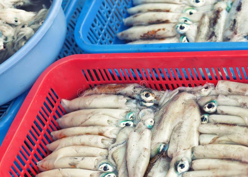 Mercato ittico asiatico tradizionale fotografie stock libere da diritti
