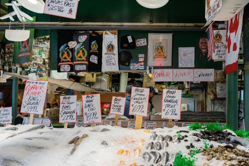 Mercato ittico di posto di luccio fotografia stock libera da diritti
