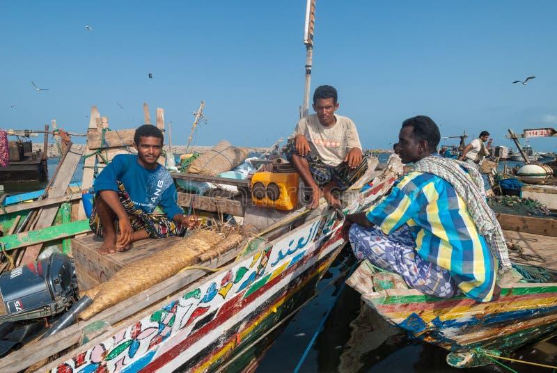 Mercato ittico nell'Yemen fotografia stock libera da diritti