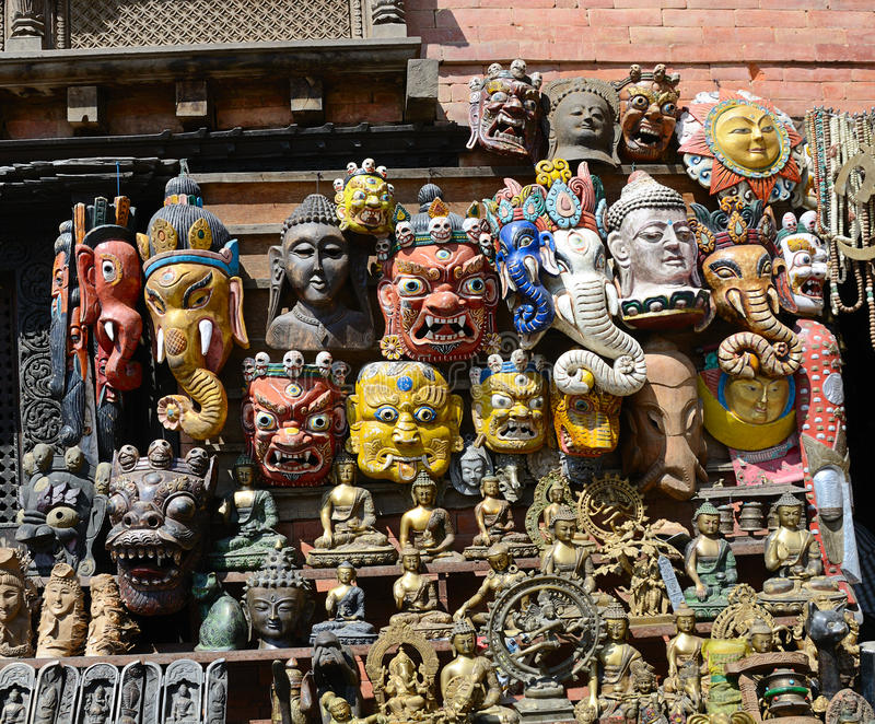 Mercato a Kathmandu immagini stock libere da diritti