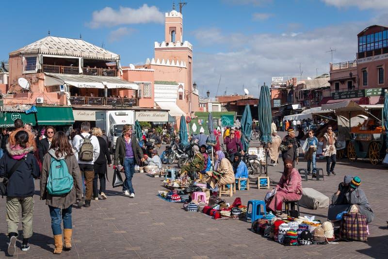 Mercato Marrakesh Marocco di EL Fnaa di Jemaa immagine stock libera da diritti