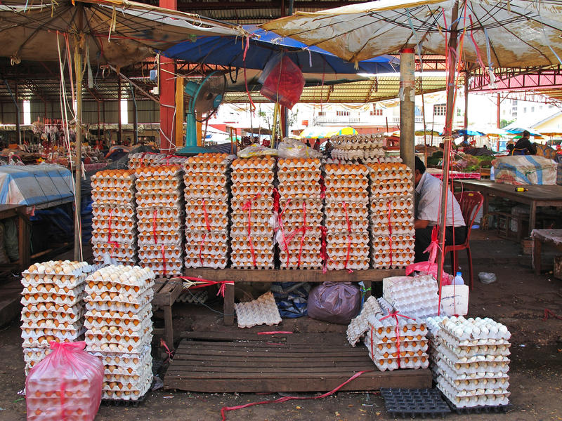 Mercato nel Laos fotografie stock libere da diritti