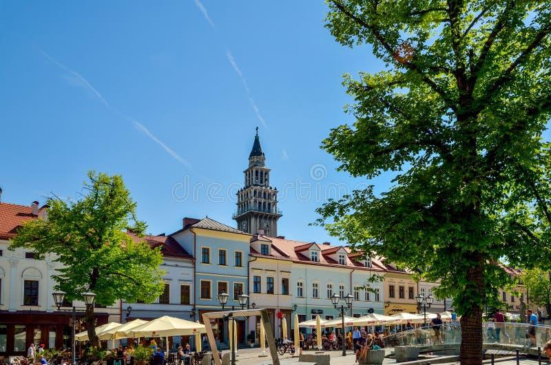 Mercato storico in Bielsko-Biala, Polonia immagini stock