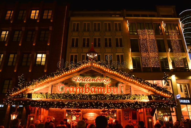 Mercato tradizionale di Natale a Monaco di Baviera immagine stock libera da diritti