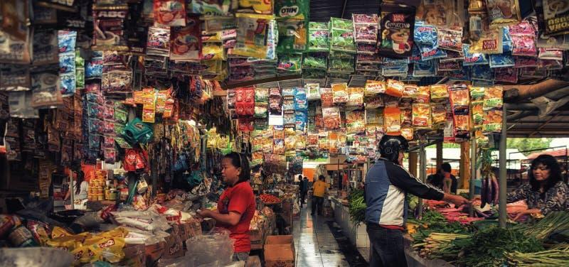 Mercato tradizionale di Tomohon fotografia stock
