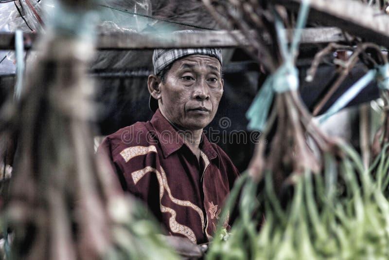 Mercato tradizionale indonesiano immagine stock