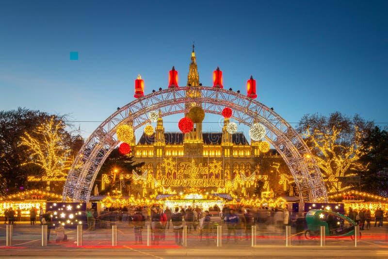 Mercato Vienna - Austria di Natale fotografia stock