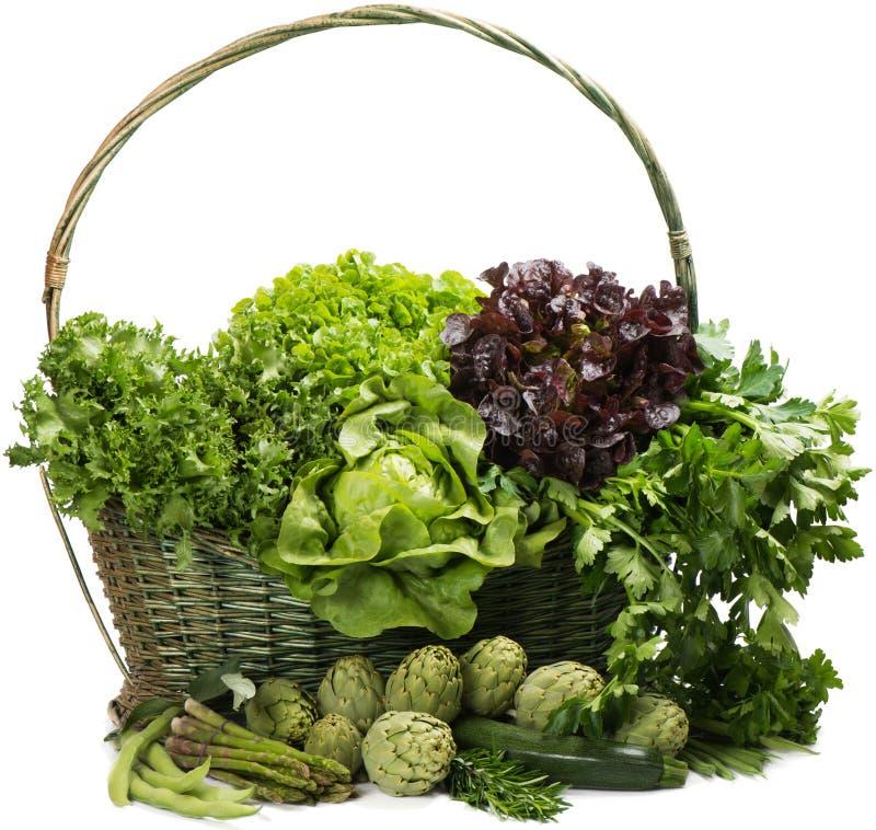 Merce nel carrello di verdure mista immagine stock