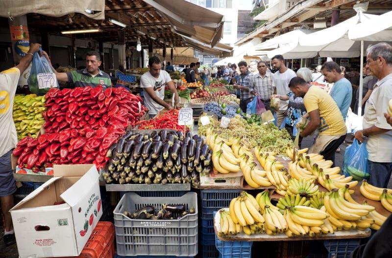 Mercearia das frutas e legumes fotografia de stock