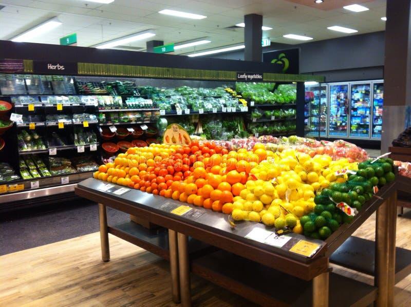 Mercearia do vegetal de fruto fotografia de stock