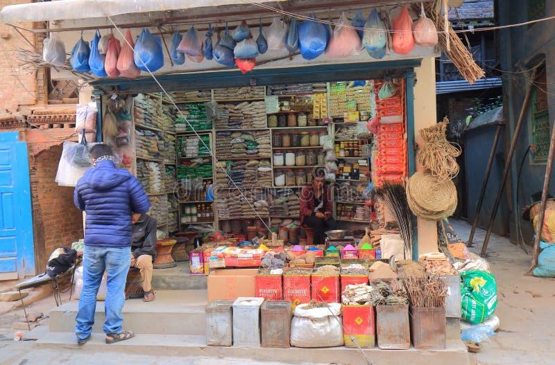 Mercearia Kathmandu Nepal imagem de stock