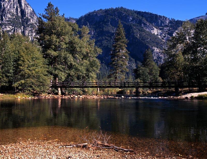 Merced河,约塞米蒂国家公园,美国。 免版税库存照片