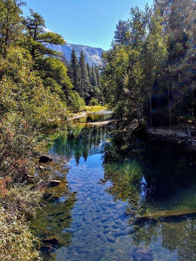 Merced flod i Yosemite arkivbild