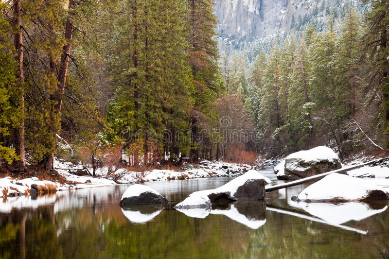 Download Merced River Scene stock image. Image of sierra, mirror - 13192007