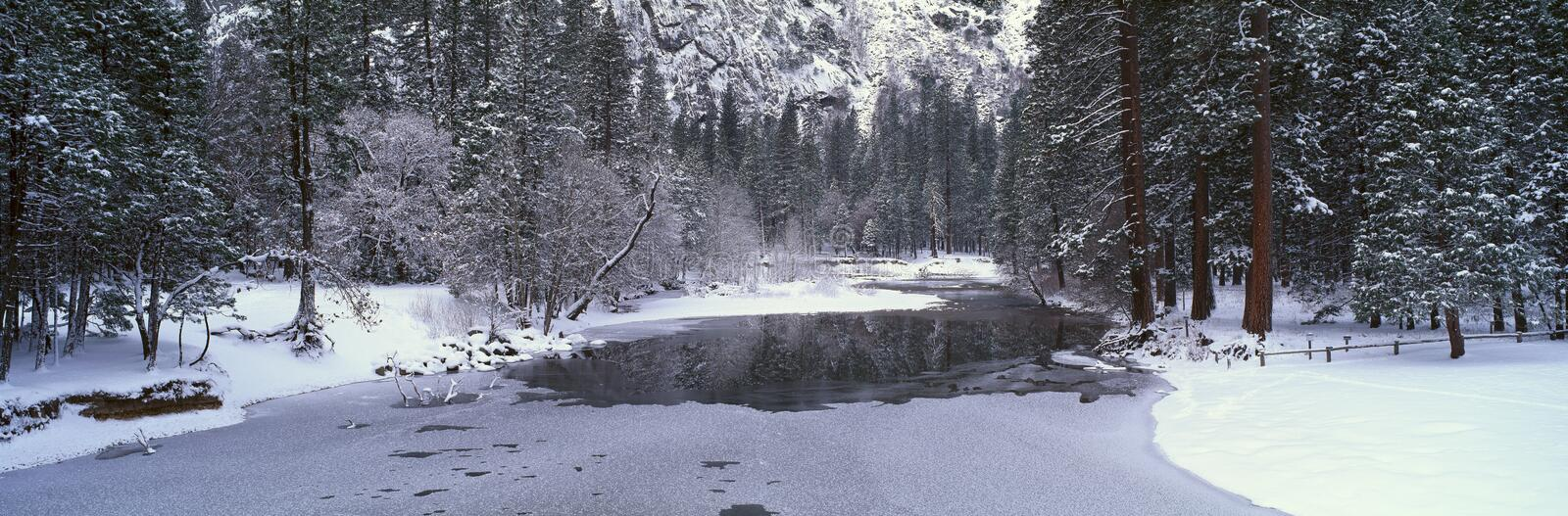 The Merced River In Winter, stock photo