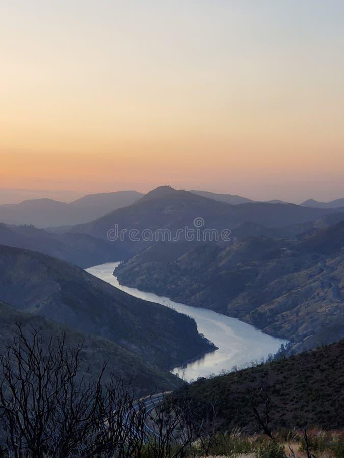 Merced sunset royalty free stock image