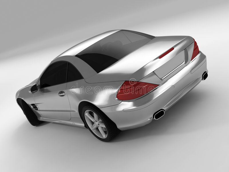 Mercedes 500 sl royalty ilustracja