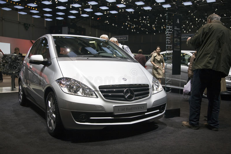 Mercedes A160 BlueEfficiency. At the 2011 Geneva Motor Show. Photo taken on: March 04th, 2011 stock photo