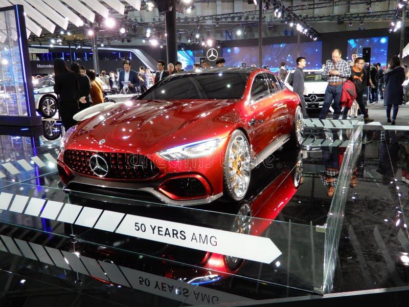 Mercedes-AMG GT-begreppet arkivbild