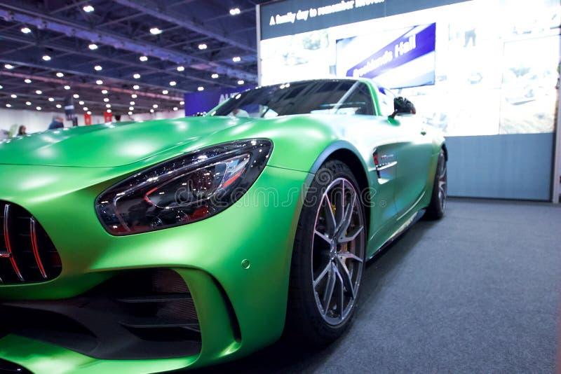 Mercedes-AMG GT R auf Anzeige in der London-Autoausstellungs-Excel-Ausstellungs-Mitte 2018 lizenzfreies stockfoto