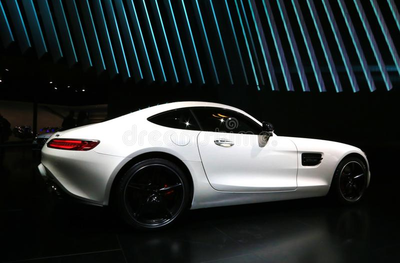 Mercedes 2016 AMG GT S no NAIAS 2015 foto de stock royalty free