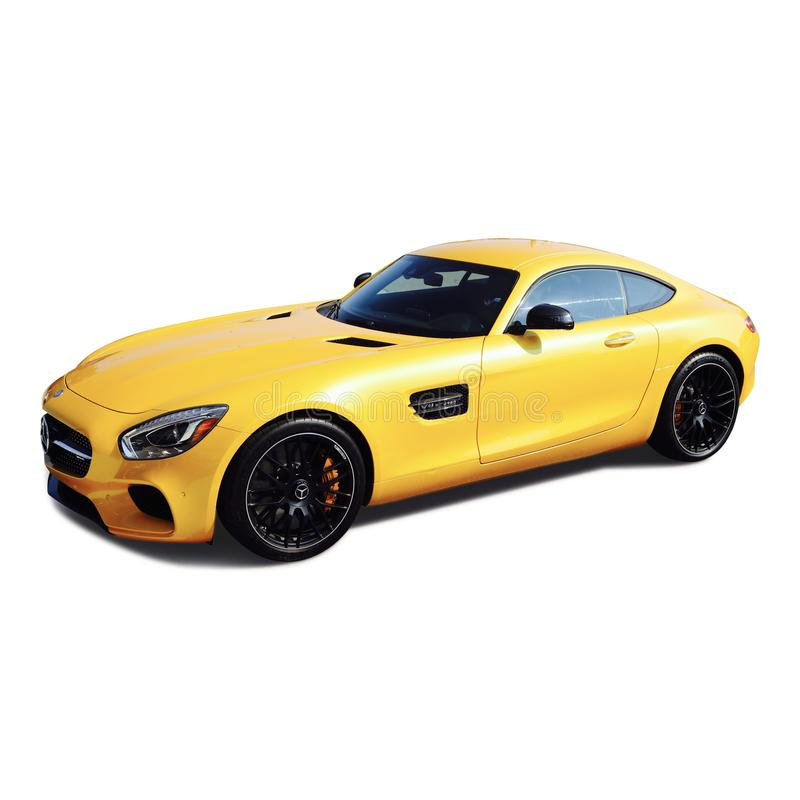 Mercedes AMG GT Red Side View Editorial Stock Image