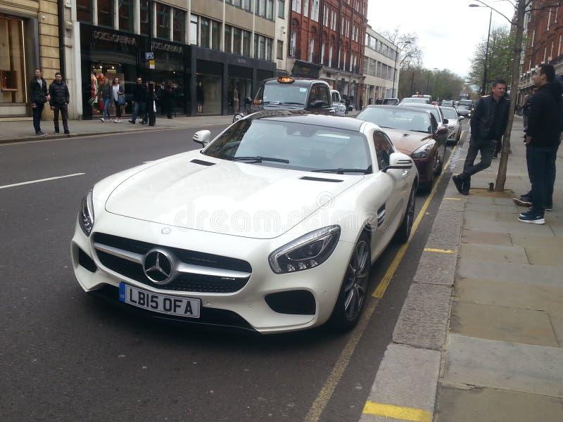 Mercedes AMG GTS fotografia stock libera da diritti
