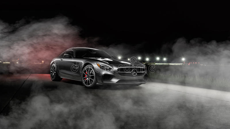 2016 Mercedes AMG GTS royalty free stock photos