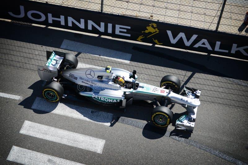 Mercedes AMG Lewis Hamilton lizenzfreies stockbild