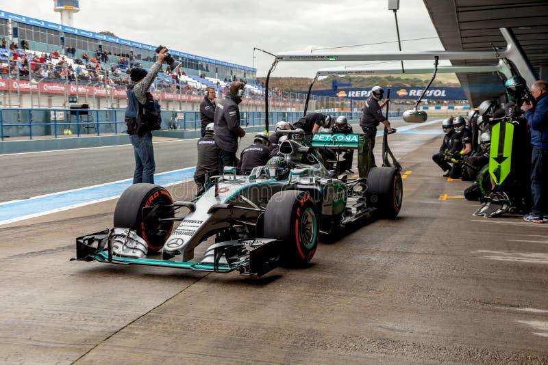 Mercedes AMG Petronas F1, Nico Rosberg, 2015 fotografering för bildbyråer