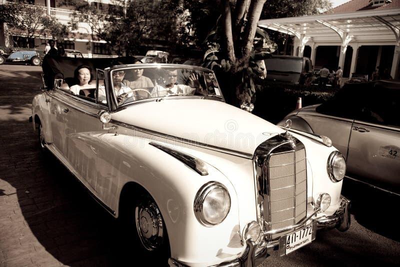Mercedes Benz 220S Cabriolet On Vintage Car Parade Editorial Photo