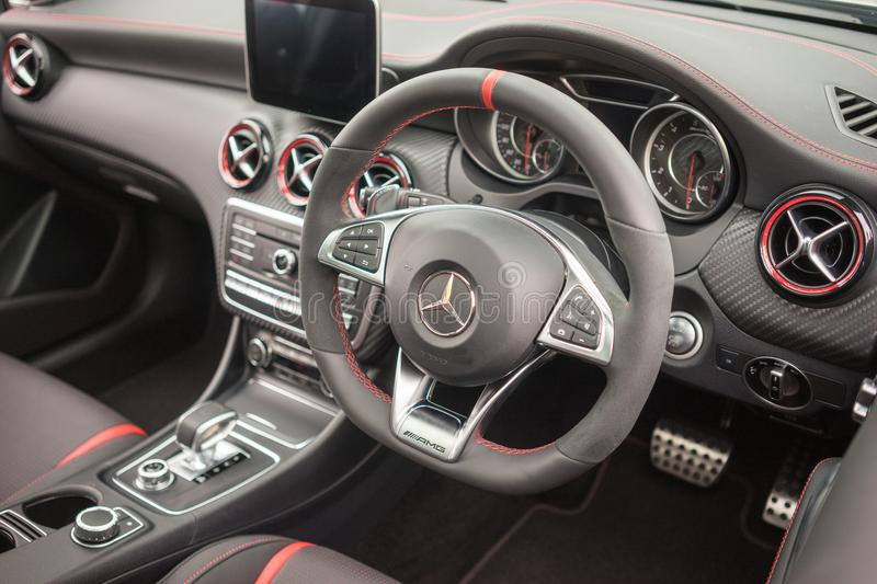Mercedes-Benz AMG C43 Cope Interior view royalty free stock photo