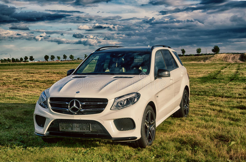 Mercedes Benz AMG GLE 43 V6 Biturbo 2017 stock photos