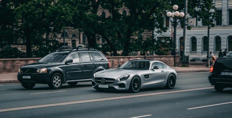 Mercedes Benz AMG GTS a Riga fotografia stock libera da diritti