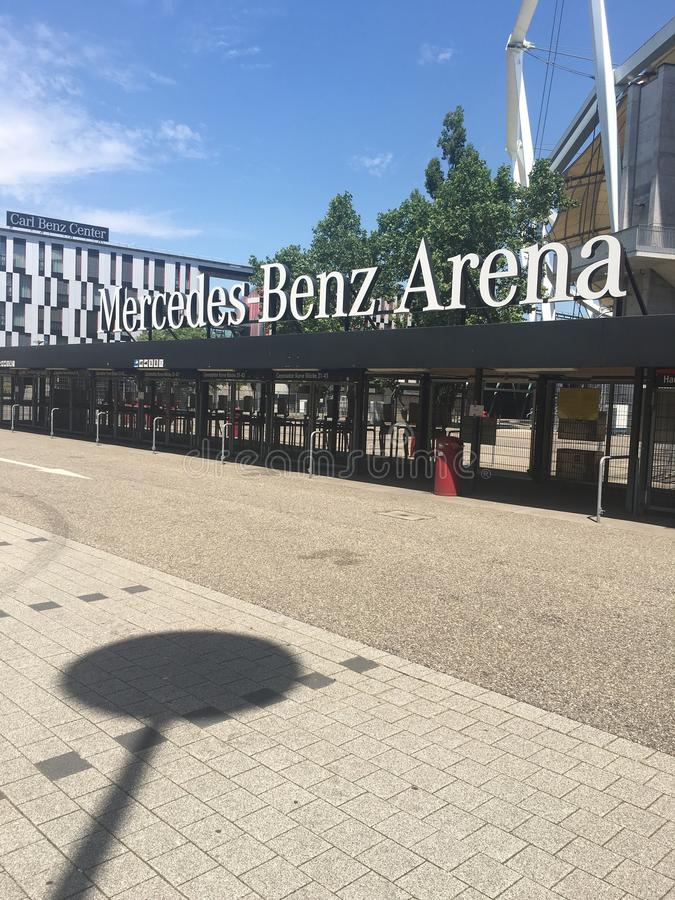 Mercedes Benz Arena imagen de archivo libre de regalías