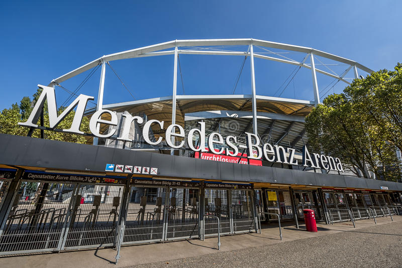 At Mercedes Benz Arena stock image