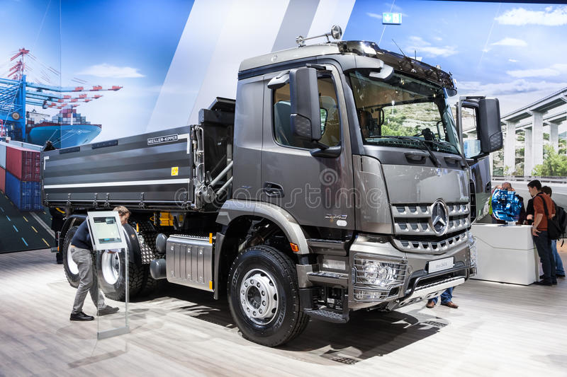 Mercedes benz arocs 2643 k dump truck editorial stock for Mercedes benz commercial trucks