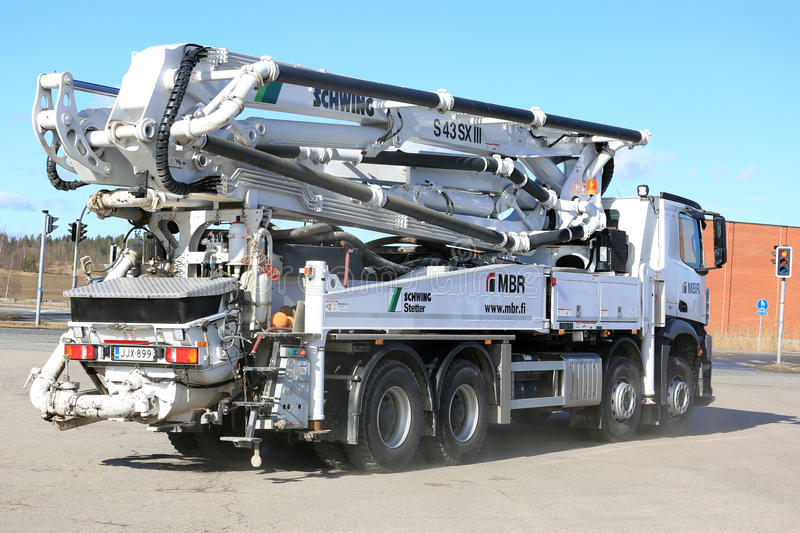 Mercedes-Benz Arocs Schwing Stetter Mobile Concrete Pump Truck stock photo