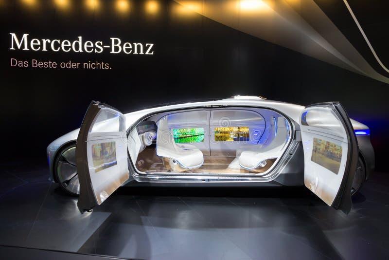 Mercedes Benz autonomous concept car stock photos