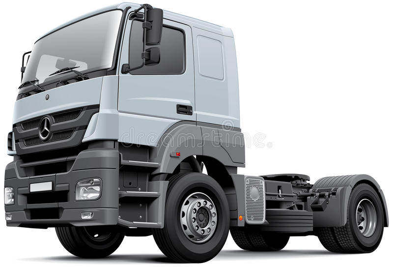 Mercedes-Benz Axor. High quality vector image of European commercial freight vehicle - Mercedes-Benz Axor, isolated on white background. File contains gradients