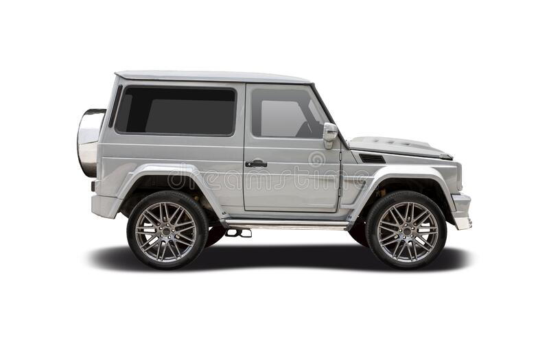 Mercedes-Benz Brabus SUV isolated on white stock images