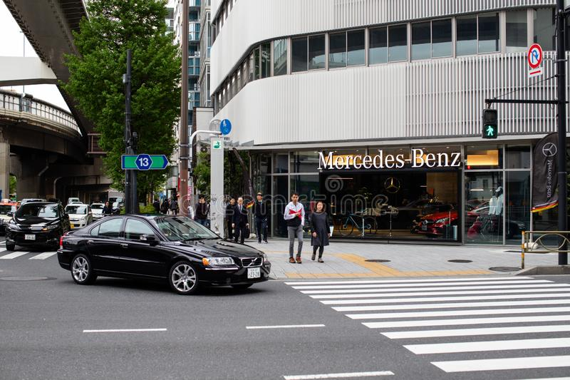 Mercedes benz building - germany car store royalty free stock photography