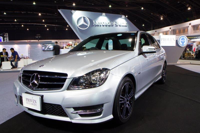 Mercedes Benz C-grupp CDI C250 på expo för Thailand Internationalmotor royaltyfri foto