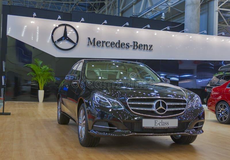 Mercedes-Benz car model on display royalty free stock photos
