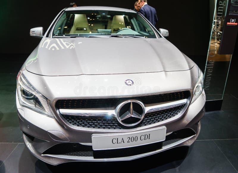 Mercedes-Benz CLA 200 CDI, Motorowy przedstawienie Geneve 2015 zdjęcie royalty free