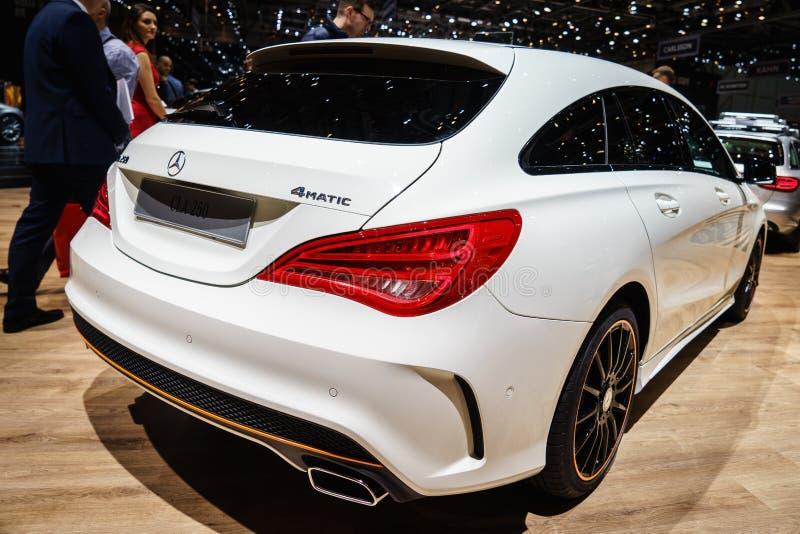 Mercedes-Benz CLA 250, Motorowy przedstawienie Geneve 2015 zdjęcia stock