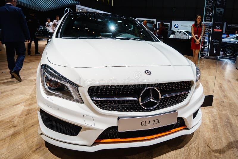 Mercedes-Benz CLA 250, Motorowy przedstawienie Geneve 2015 fotografia stock