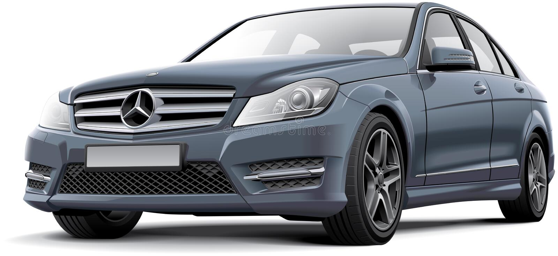 Mercedes-Benz classe de la c illustration stock
